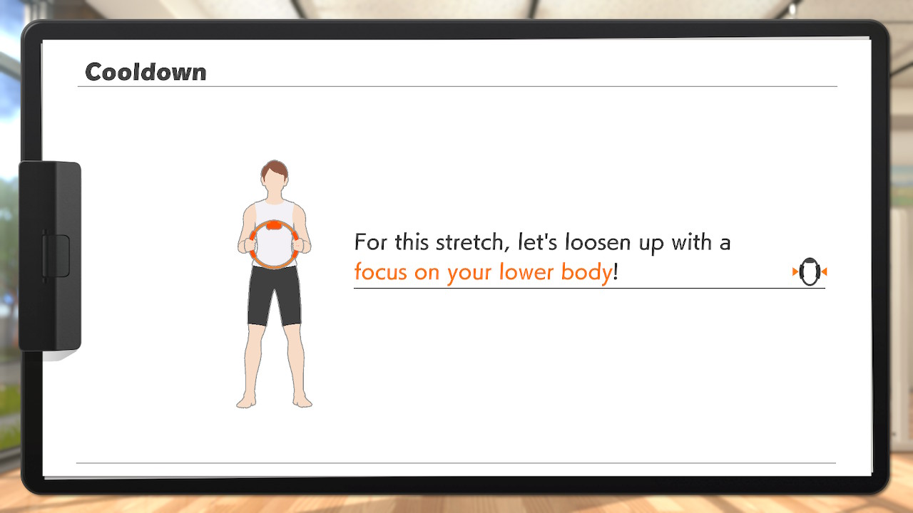 Ring Fit Adventure: Stretch after every workout